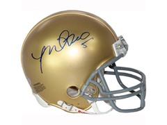 Manti Te'o Notre Dame Signed Mini Helmet
