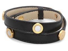 Leather Wrap Bracelet w/ Pearl Accent