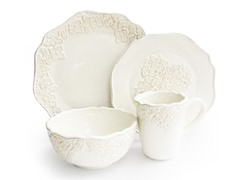 American Atelier Bianca Medallion 16 Pc Dinnerware Set