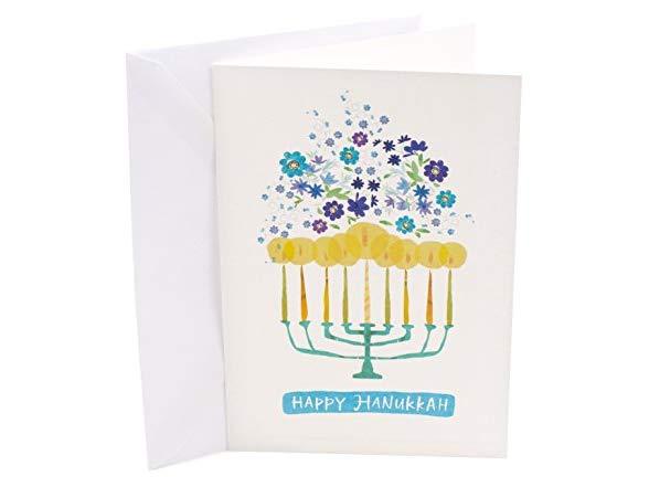 Hallmark UNICEF Hanukkah Boxed Cards 12 Cards and 13 Envelopes Menorah Candles