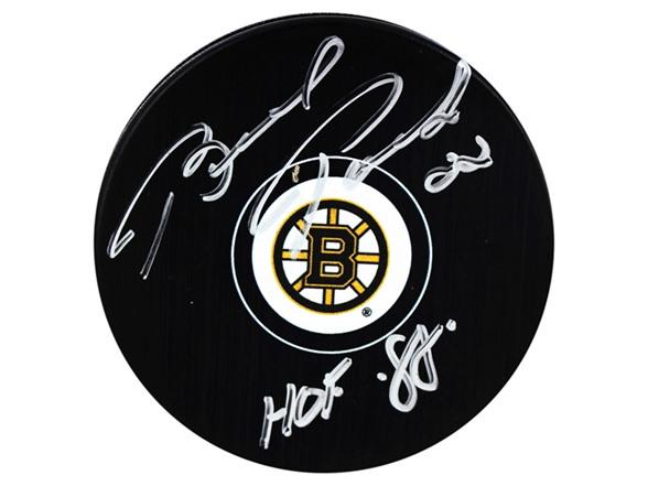 Brad Park Bruins Signed Puck, HOF 88 WT67605A