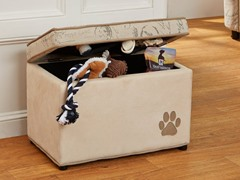 Modern Vintage Pet Storage Bin - Cream
