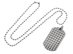 Stainless Steel Dog Tag w/ Stud Pattern