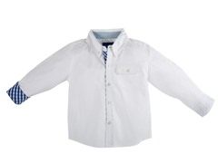 B&T White Oxford Shirt (Size 4T)