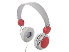 Lifestyle Headphones - White/Red