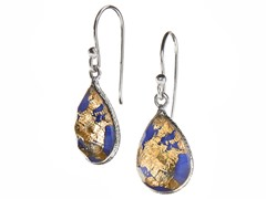 24kt Gold Flake Doublet Earrings