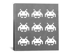 White Invaders 18x18 Thin