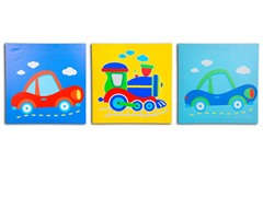 On The Go Canvas Print Set of 3