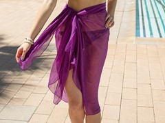 Sheer Sarong Purple