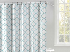 Magalie Shower Curtain Set-Sea Green