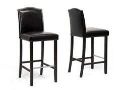 Libra Bar Stool w/Nail Head Trim Set/2