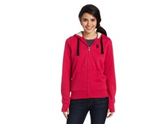 USPA Jrs Classic Fleece Jacket, Berry