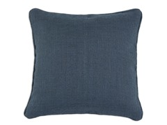 Burlap Navy 17x17 Pillows-S/2
