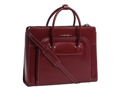 "Lake Forest Leather Ladies' 15.4"" Briefcase w/ Sleeve"