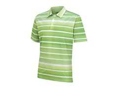 ClimaCool Stripe Polo, White/Mint (S)