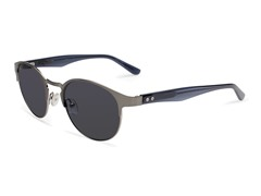Rim Light Sunglasses, Brushed Silver