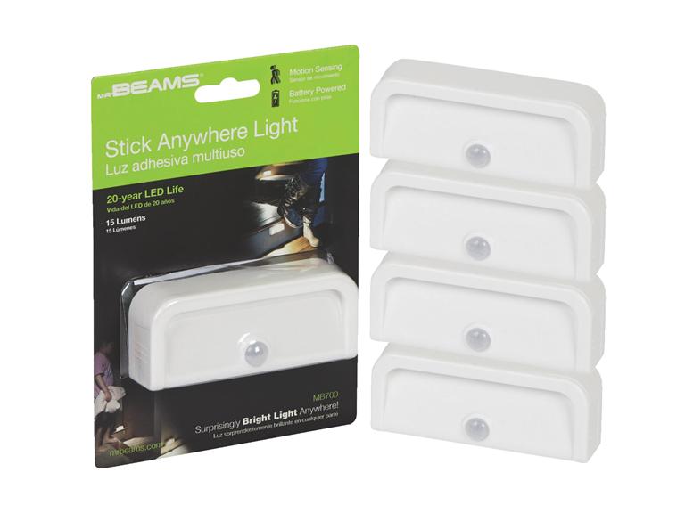 Mr. Beams Motion-Sensing LED Nightlights (4-Pack)