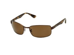 Polarized Rectangle Sunglasses, Brown