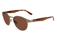 Rim Light Sunglasses, Brushed Gold