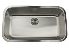 "32"" Undermount Kitchen Sink, Stainless"