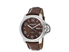 Brown Dial Brown Genuine Leather Watch