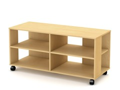 South Shore Jambory TV Stand/Storage Maple