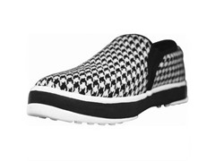 Men's Canvas Crossover Shoe- Houndstooth