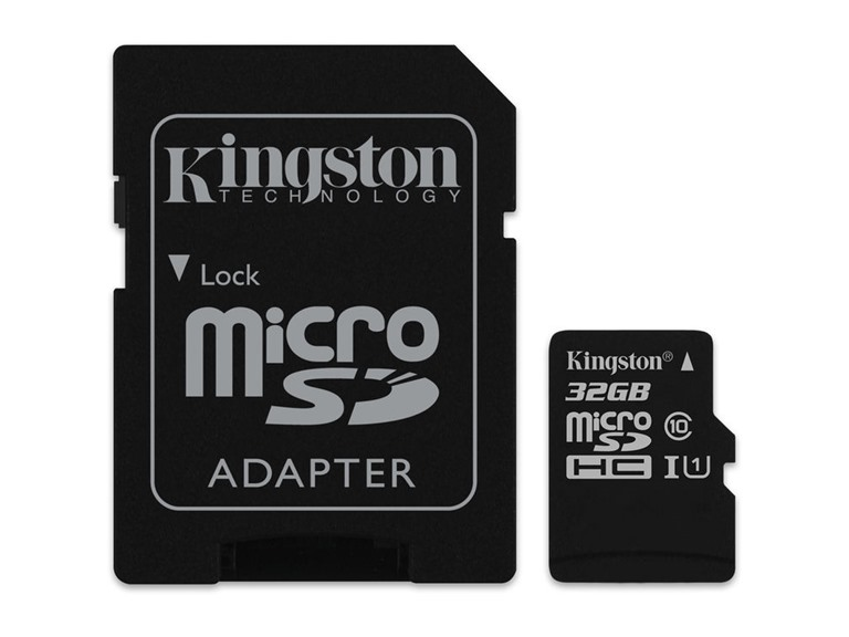Kingston 32GB microSDHC Class 10 w/ SD Adapter