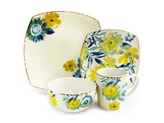 Waverly Fiore Di Acqua 16pc Dinner Set