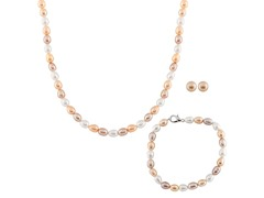 3 Multicolor Freshwater Pearl Set