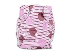 Polka Fuzzy Pink Cloth Diaper