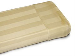 400TC Gold Damask Stripe Sheets-3 Sizes