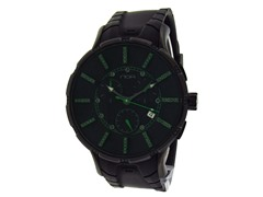 Ion Plated Chrono Black and Green Topaz