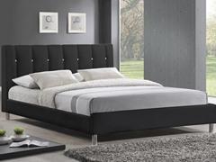 Vino Black Modern Bed