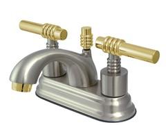 Milano Teapot Lavatory Faucet, Satin Nickel/Brass