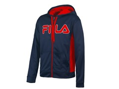 Competition Full Zip Hoody - Peacoat/Red