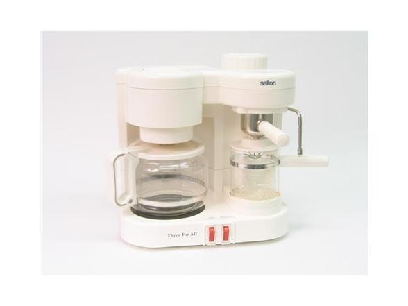 Salton Three For All Coffee Espresso Cappuccino Maker