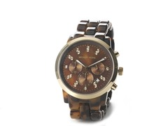 Women's Oversized Chrono Tortoise Watch