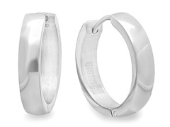Stainless Steel 16mm Huggie Earrings