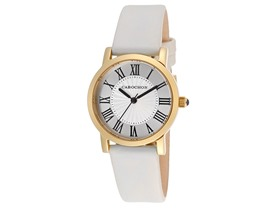 Women's Dame Chic Silver-Tone Leather Watch