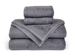 6-Piece Supima Cotton Towel Set-Smoked Pearl
