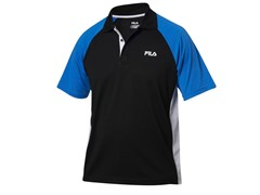 Fila Men's Coach Polo, Black/Blue (S)