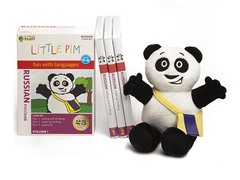 Russian for Kids: Language Box Set Volume I w/Panda Plush
