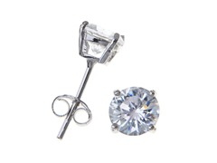 Sterling Silver 6mm Round CZ Studs