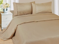 Lavish Home Sheet Set - Taupe - 4 Sizes