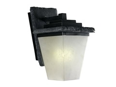 Mesa Medium Wall Lantern, Black
