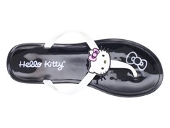 Hello Kitty Women's Gel Flip Flops, Black