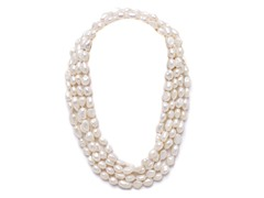 White Freshwater Endless Pearl Necklace