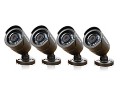 600TVL Day/Night Bullet Security Cameras - 4 Pack