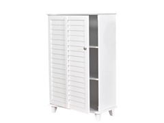 SEI Nassau Louvered Towel Safe - White